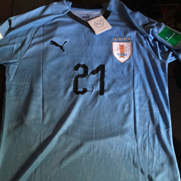 new concept cfe0d 5232a Uruguay Home Jersey 2018 #21 Cavani Med and Lg NWT